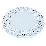 """Ouneed® 150PCS 6.5inch Napkin creux dentelle Papier Mat Artisanat Décoration Papier (16.5CM/6.5"""", blanc)"""