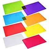Outus Feuilles de Cellophane Papier Transparent Couleurs Assorties 11.8 par 8.5 Pouces, 8 Couleurs, 104 Morceaux