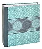 Panodia 271288 Mandala Album photos pochettes avec 200 Vues Papier Bleu 5 x 22,5 x 25 cm