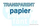 papierfant.de Lot de 100feuilles de papier calque Transparent DIN A4110-115g/m²