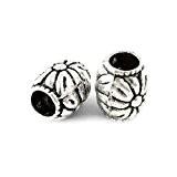 Paquet 20 x Argent Antique Tibétain 8 x 10mm Perles Intercalaires Baril - (HA17050) - Charming Beads