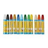 Pastels à l'Huile Set de 12pcs Gras Crayon Bâton Peinture Dessin Cadeau Enfant