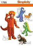Patron de couture 1765 pour costumes d'enfant et de chien, tailles?: A (3–4-5–6-7–8)