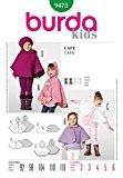 Patron de couture Burda Children's 9475-pèlerines :  2-6 ans