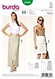 Patron de couture Burda Femme - 6804 une ligne jupes en 2 longueurs