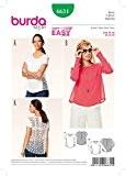 Patron de couture Burda Mesdames facile 6631Coupe ample pour femme + Gratuit Minerva Crafts Craft Guide