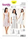 Patron de couture Burda Mesdames facile 6687robes et sans manches courtes pour homme + Guide Minerva Crafts Craft
