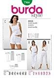 Patron de couture Burda pour femme facile 7966Short, pantalon court et long Tailles 40–52
