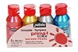 Pébéo 055591 Primacolor Nacrée Pack de 4 Flacons de 150 ml