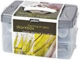Pébéo 758402 Vitrail et Vitrail Coffret Atelier 10 Flacons Opaque Assortis 45 ml + Accessoires