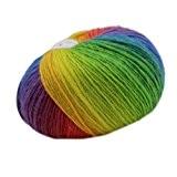 Pelote Laine Fil à Tricoter Doigtés Crochet Fils Teints Couleur Pente - #11