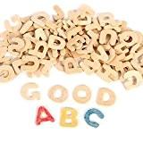 PIXNOR Jeu d'Alphabet de lettres en bois pour les enfants préscolaires lecture BRICOLAGE Decor