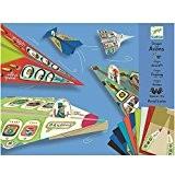 Pliage papier 20 Avions Origami de Djeco avec personnages pour enfants