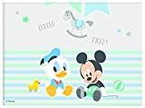 Procos 85591-Nappe plastique Baby Mickey & Donald, bleu/blanc