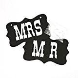 QHGstore Mr & Mrs Lettres en bois pour décoration de mariage Sign Top Table Décor