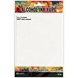 Ranger Tim Holtz YUPO 10feuilles de papier blanc pour encre à alcool 12,7x17,8cm Multicolore