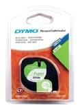 Ruban Autocollant Dymo pour Etiqueteuses LetraTag, 12 mm x 4 m-1/2 in.x13ft, Blanc