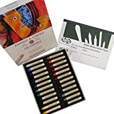 Sennelier-Coffret de 24pastels à l'huile Boîte cartonné Couleurs assorties + Gratuit curtisward Multi médias Format A5