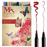 Set de stylos pinceaux à deux pointes- 12 couleurs - qualité supérieure, créez des effets aquarelle - parfait pour cahiers ...
