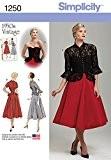 Simplicity 1250Taille H5Patron de Couture Veste et Robe pour femme Vintage Années 50une pièce, multicolore