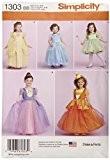 Simplicity 1303Taille BB les tout-petits et patron de couture Costumes pour enfant, multicolore
