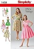 Simplicity 1459 1950s Vintage Patron de couture pour robes vintage Années 50 Tailles 42 à 50