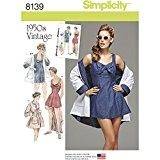 Simplicity 8139pour femme vintage Robe de bain et de plage Manteau Patrons de couture, Blanc, Taille R5