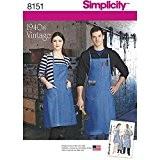 Simplicity 8151vintage tabliers pour garçons/filles/femmes et hommes Patrons de couture, Blanc