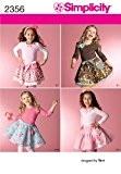 Simplicity A 3-4-5-6-7-8Patron de Couture pour Enfant 2356skirtslips et accessoires