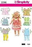 Simplicity One Size Sewing Pattern 2296 Patrons vêtements de poupée
