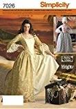 Simplicity S7026.HH Patron de Couture Robe Historique