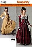 Simplicity S7532.HH Patron de Couture Costume Robe Historique