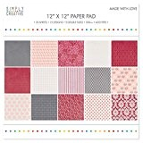 """Simply Creative Pad Papier 12""""x12"""" Made With Love"""