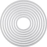 Sizzix  18657551 Big Shot Cercles Framelits Set de 8 Matrices de Découpe pour Machine Plastique Multicolore 16 x 1 ...