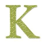"Sizzix Bigz Alphabet E.L. Smith Matrice Serif Lettre ""K"" E.L. Smith"