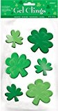 Stickers gels trèfles verts Saint-Patrick