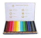 Sumnacon 36 Crayons de Aquarelle avec Boîte Métal, idéal 36 Crayons Couleur pour Enfant, Ami (36 couleur)