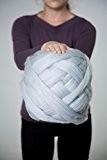 Super Chunky Laine à tricoter pour bras, 100% laine, 23microns., Silver Blue 1000 gr