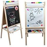 Tableau pour enfant double face ardoise et magnétique avec rouleau de papier et boulier