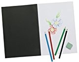 Tiger A4 Artist Sketch Book White Cartridge Paper Black Card Cover Art Pad by Tiger Stationery