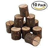 Tinksky 10pcs Porte-photo Pince à Carte Mémo Note Clip Titulaire en Bois Tableau Décoration