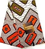 TISSU AFRICAIN PAGNE WAX SUPREME HOLLAND ORIGINAL MODELE TYPE JAVA imprimé 6 YARDS 100% COTON CIRE