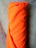 Tissus BURLINGTON infroissable ORANGE FLUO nappe habillement au 0.50 metre largeur 150 cm