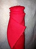 Tissus BURLINGTON infroissable ROUGE nappe habillement au 0.50 metre largeur 150 cm