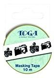 Toga MT99 Masking Tape Appareil Photo Washi Tape Noir/Blanc 5,5 x 7 x 1,5 cm