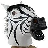 Tonsee® Zebra Masque Latex animal Costume Halloween Prop