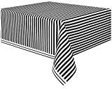 Unique Party - 50305 - Nappe - Plastique - Motif Rayé - 2,74 x 1,37 m - Noir