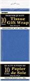 Unique Party - 6295 - Paquet de 10 Feuilles de Papier - Soie - Bleu Roi