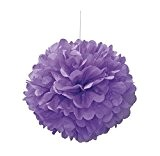 Unique Party - 63202 - Pompon de Décoration en Papier de Soie - 40 cm - Violet
