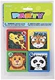 Unique Party - 86931 - Paquet de 10 Puzzles Coulissants Animaux pour Pochettes - Cadeau
